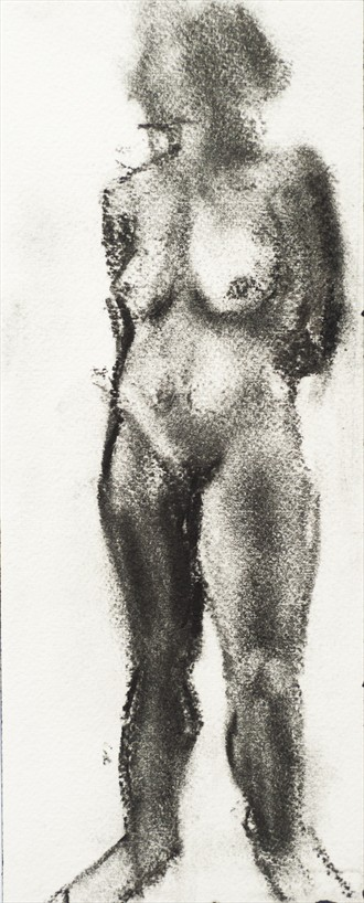 Standing model. Tiny drawing Artistic Nude Artwork by Artist Ciaran Taylor