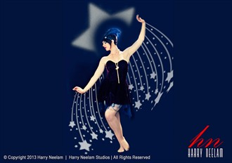 Star Dancer (after Erte) Fantasy Artwork by Photographer Harry Neelam