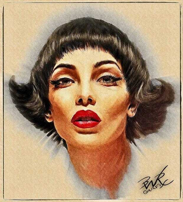 Starlet Glamour Artwork by Artist BWRgrafix