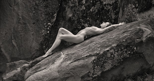 Stone Nymph Artistic Nude Photo by Model Mauvais