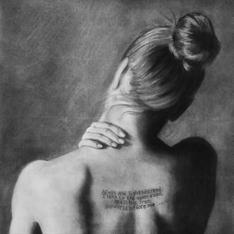 Strength Artistic Nude Artwork by Artist Nadia Vanilla