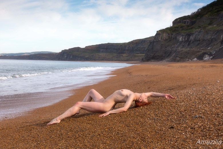 Stretching Out at the Beach Artistic Nude Photo by Photographer Amazilia Photography