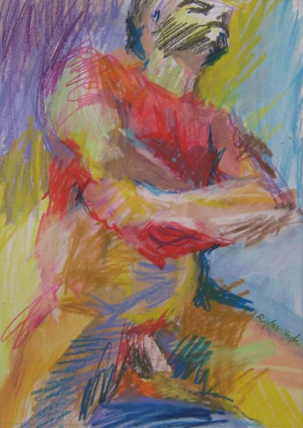 Stripping Artistic Nude Artwork by Artist paulryb
