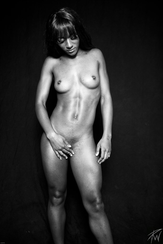 Strong Black Woman II B&W Artistic Nude Photo by Photographer PWPhoto