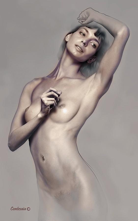Studio 10 Artistic Nude Artwork by Artist Contesaia
