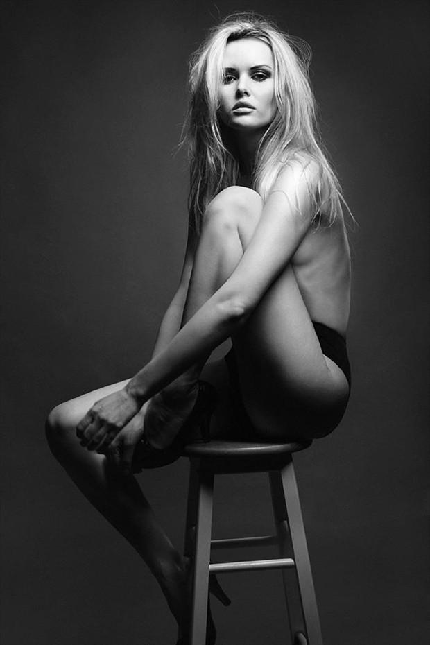 Studio Lighting Emotional Photo by Model Carla Monaco