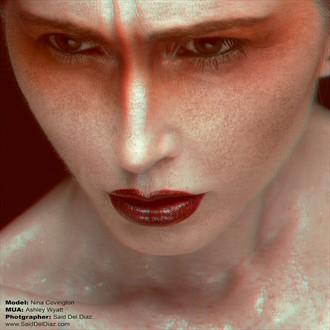 Studio Lighting Expressive Portrait Photo by Model Nina Covington
