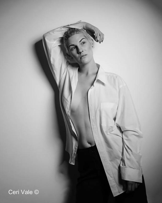 Studio Lighting Implied Nude Photo by Model Adara Saeth