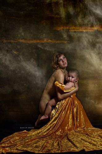 Studio Lighting Implied Nude Photo by Model Amanda Morales