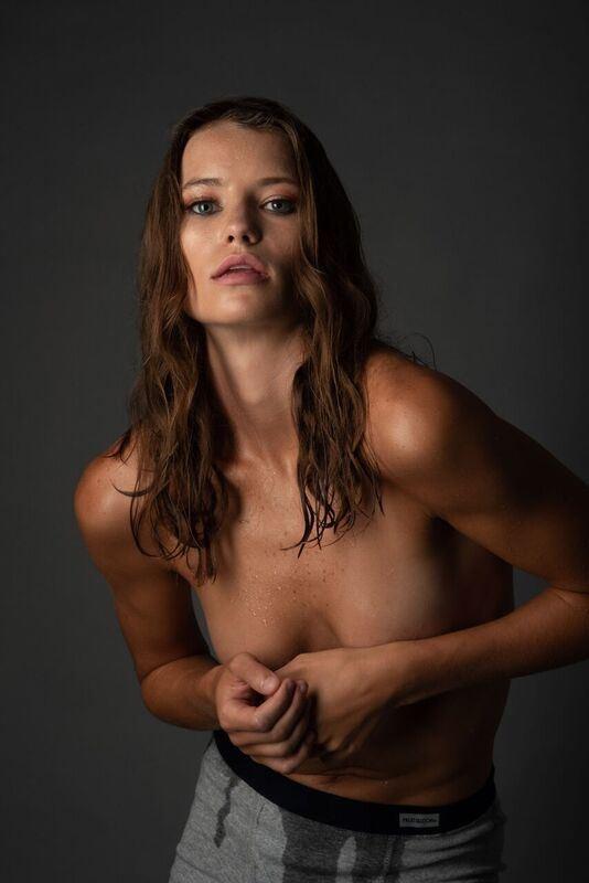 Studio Lighting Implied Nude Photo by Model Billie