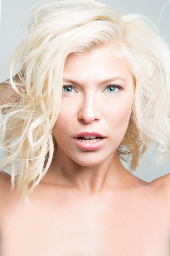 Studio Lighting Implied Nude Photo by Model Erika Apelgren