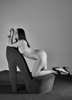 Studio Lighting Implied Nude Photo by Model kat