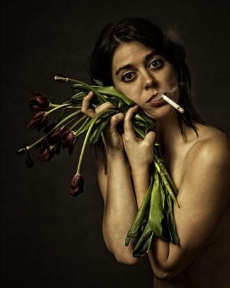 Studio Lighting Implied Nude Photo by Photographer wmzuback