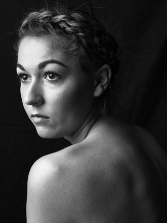 Studio Lighting Portrait Artwork by Model Mia Bartlett
