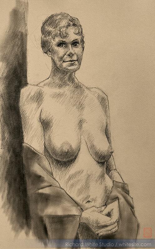 Study 1481 Figure Study Artwork by Artist Richard White