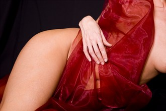 Study in Red Artistic Nude Photo by Photographer GD Scott