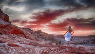 Sunrise Swirl Nature Photo by Model Riccella