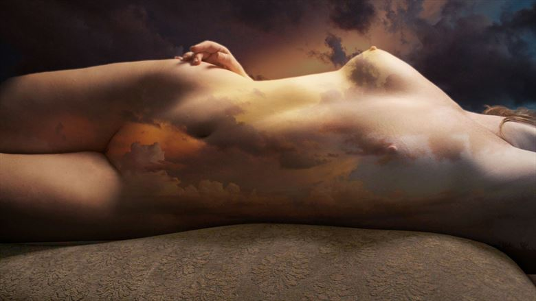 Sunset Artistic Nude Photo by Artist David Bollt