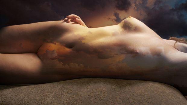 Sunset Artistic Nude Photo by Artist David Bollt