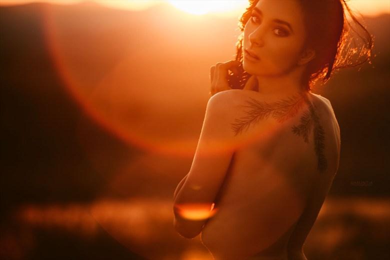 Sunset Artistic Nude Photo by Model Shaun Tia
