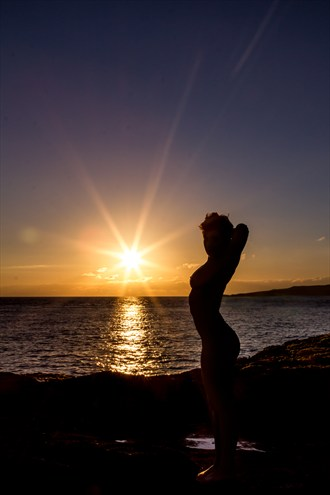 Sunset Stretch Artistic Nude Photo by Photographer Manannan Fotografix