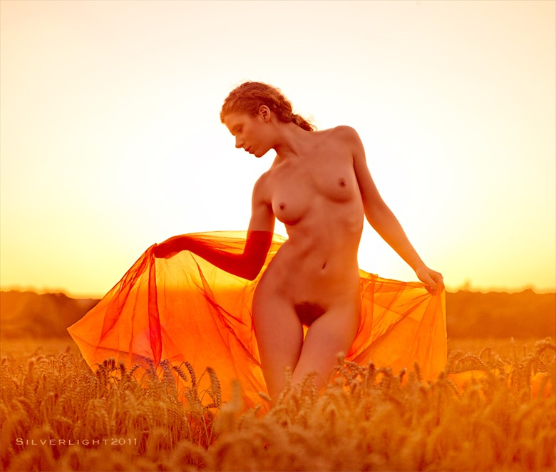 Sunset by Wayne Lawes Artistic Nude Photo by Model Jen Somerfield