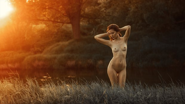Sunset on the river Artistic Nude Photo by Photographer dml