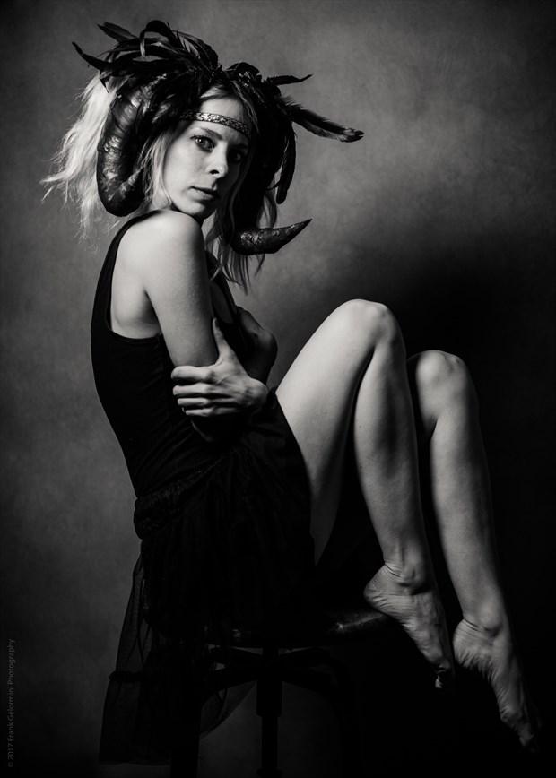 Surreal Expressive Portrait Photo by Model Vivien