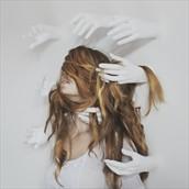 Surreal Horror Photo by Model Alessandra