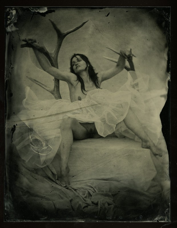 Surreal Vintage Style Photo by Model Ine