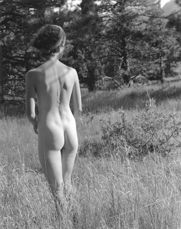 Susan Nude in the Field Nature Photo by Photographer Thomas Scalf