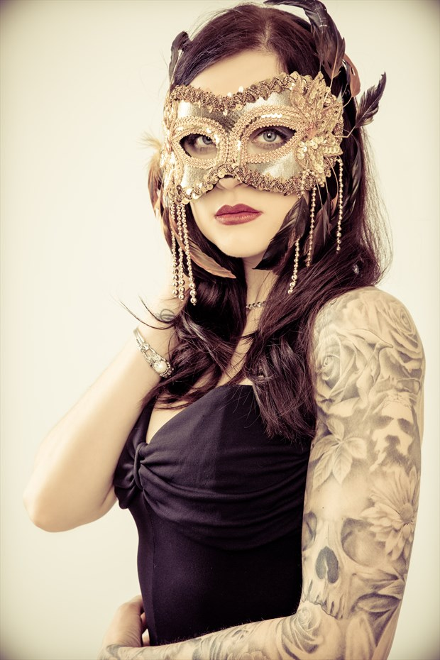 Suzy masked portrait Tattoos Photo by Photographer Gareth Havard