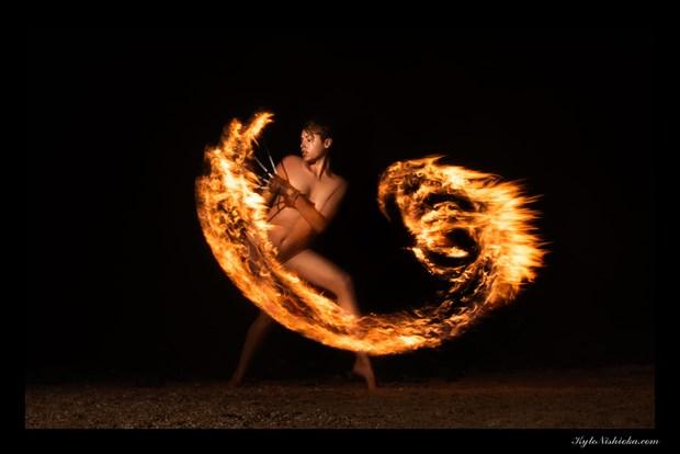 Sweep you up in wings of fire Surreal Photo by Model Reece de la Tierra