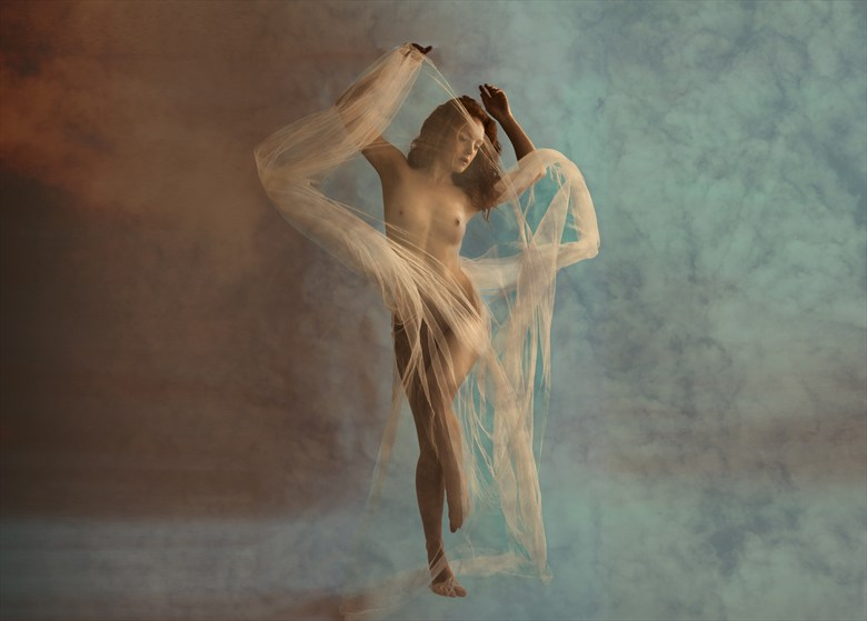 Swirling Artistic Nude Photo by Photographer Ray Kirby