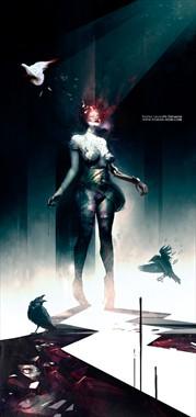 THE DARK SHRINE Surreal Artwork by Artist Bastien Deharme