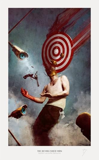 THE DEMOLISHED MAN Surreal Artwork by Artist Bastien Deharme