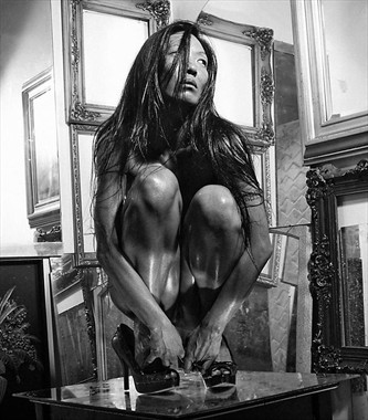 Table Dancer (Yesterday's Nudes)  Erotic Artwork by Model Ree Ja