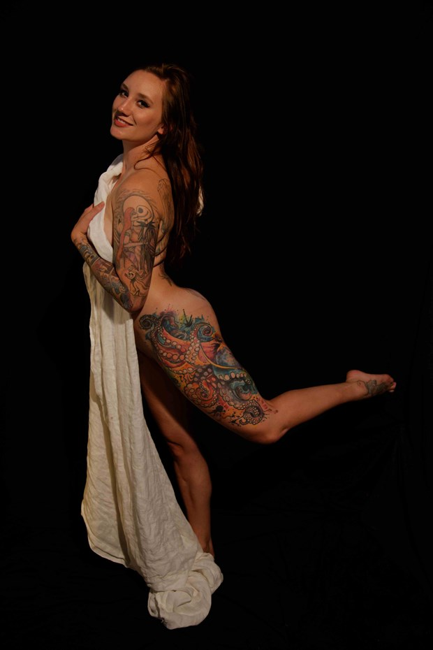 Tattoed model study Artistic Nude Photo by Photographer Fred Scholpp Photo