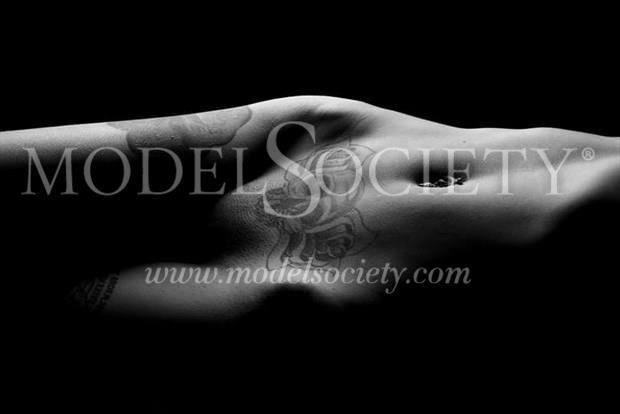 Tattoos Close Up Photo by Model Helen Hellfire