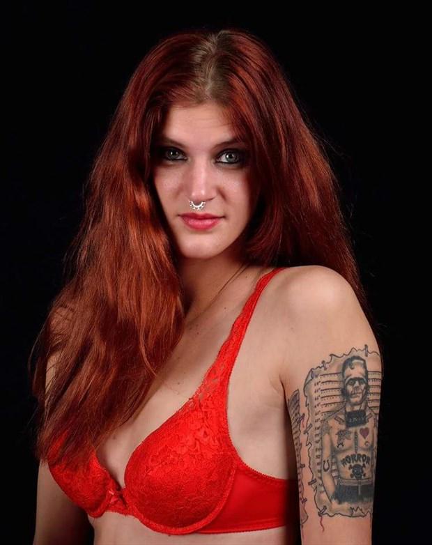 Tattoos Lingerie Photo by Model Helen Hellfire