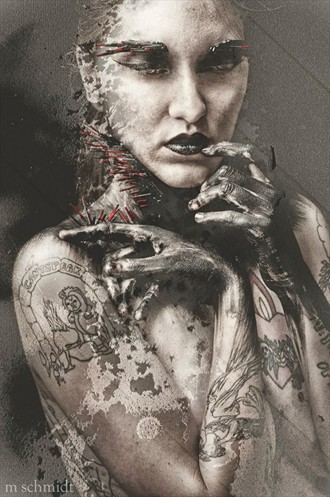 Tattoos Surreal Photo by Model Mary Geraldine