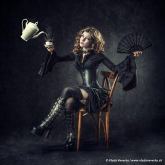 Tea party Glamour Artwork by Artist Vera Croft