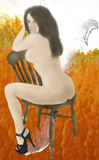 Temptation Artistic Nude Artwork by Artist ianwh