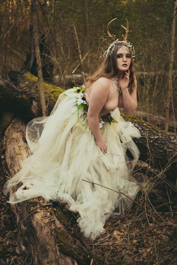 The Antlered Doe Nature Photo by Model Clockwork Calamity