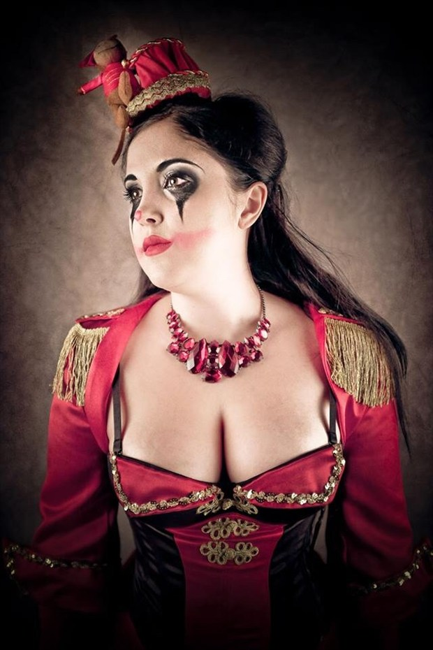 The Black Circus Tamer Surreal Photo by Model Pocket Girl
