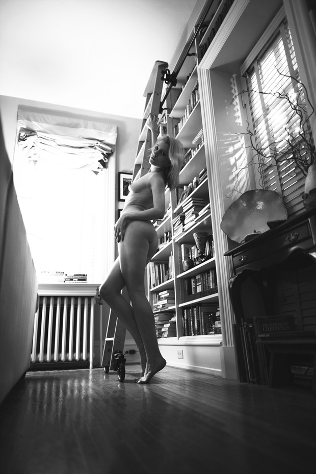 The Bookcase Artistic Nude Photo by Photographer Jerry Jr