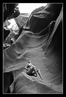 The Canyon 01 Artistic Nude Photo by Model Diana