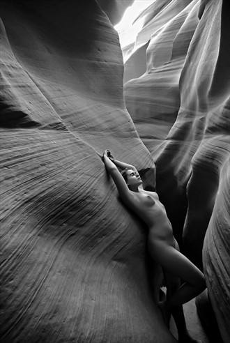 The Canyon 02 Artistic Nude Photo by Model Diana