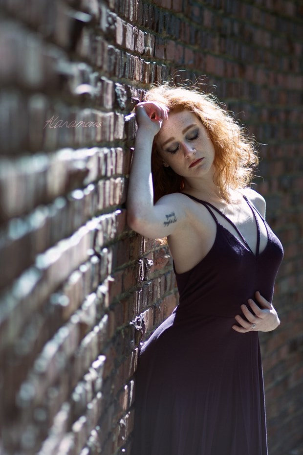 The Curved Brick Wall Portrait Photo by Photographer Alanamous