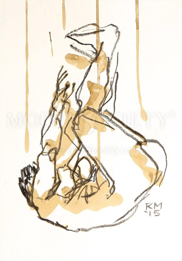 The Descent Artistic Nude Artwork by Artist Rob MacGillivray